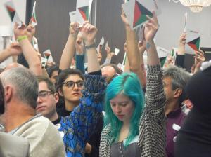Left Unity delegates have the energy to raise on hand each? Capitalism won't stand a chance