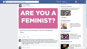 I'm a feminist, apparently.