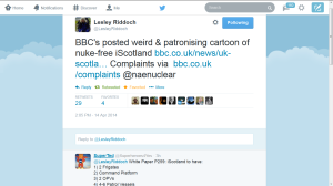 BBC editors are investing OUR license fee in lying to the Scottish people.