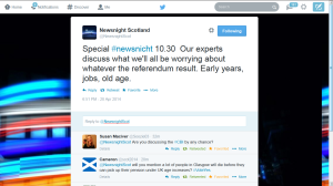Newsnight's 'experts'?