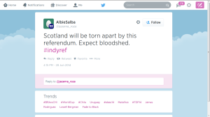 Alister Darling's anonymous BritNat trolls threaten bloodshed