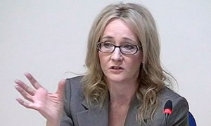 JK Rowling giving evidence to the Leveson inquiry in 2011