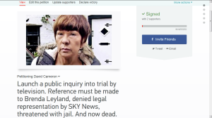 Brenda Leyland, driven to death by Rupert Murdoch's SKY News