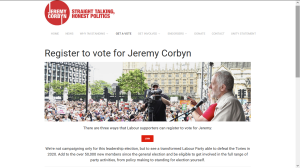 REGISTER TO VOTE FOR JEREMY CORBYN