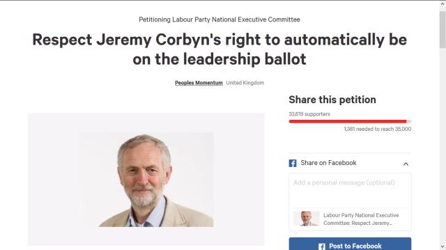 jeremy corbyn  petition
