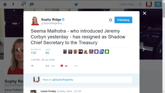 sophy ridge 26 june seema malhotra resigns the day after she backed jeremy corbyn