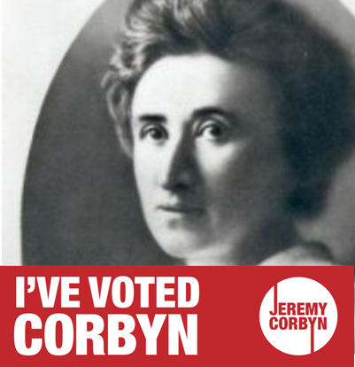 rosa luxemburg ive voted corbyn twitter K-0FCEaP