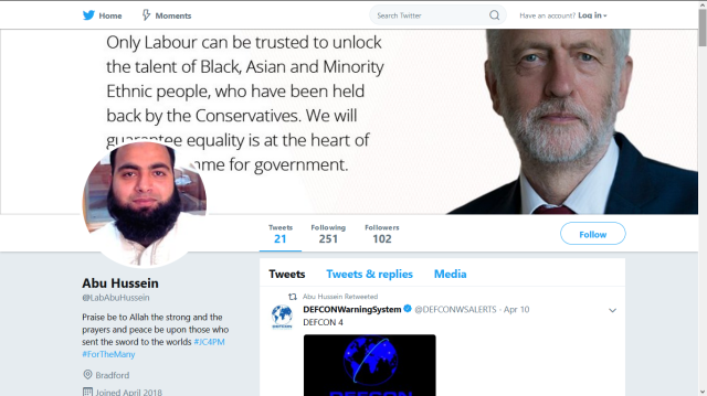 ABU HUSSEIN JOINED APRIL 2018 JC4PM NICK GRIFFIN TROLL